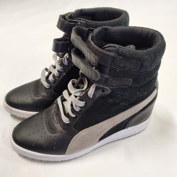 Puma hidden wedge hightops sneakers tennis shoes
